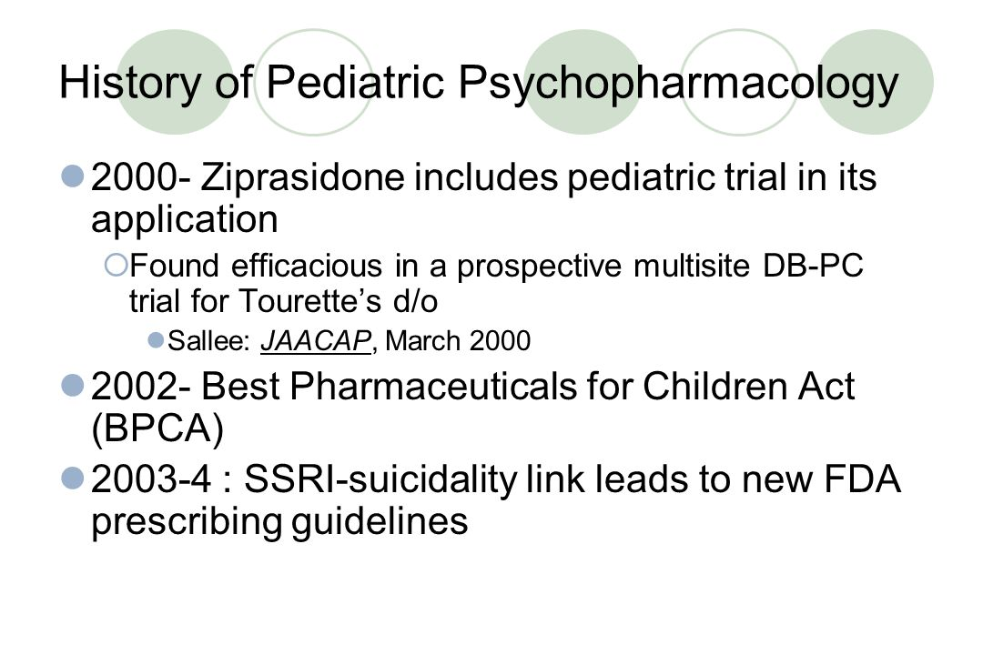 History of Pediatric Psychopharmacology