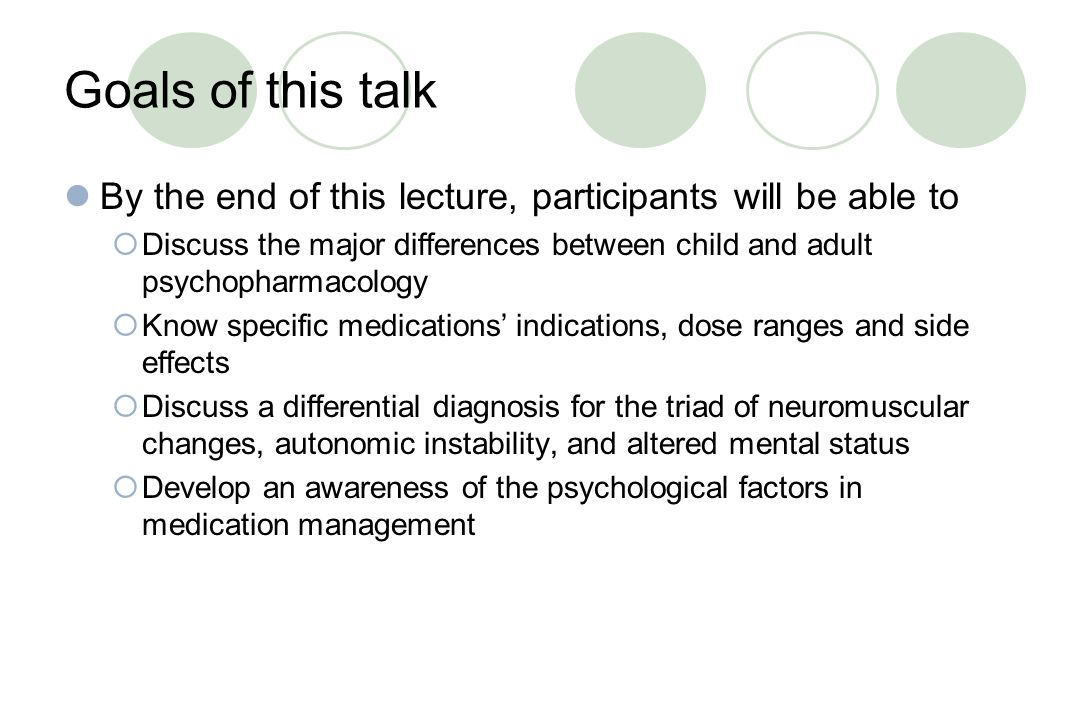 Goals of this talk By the end of this lecture, participants will be able to.