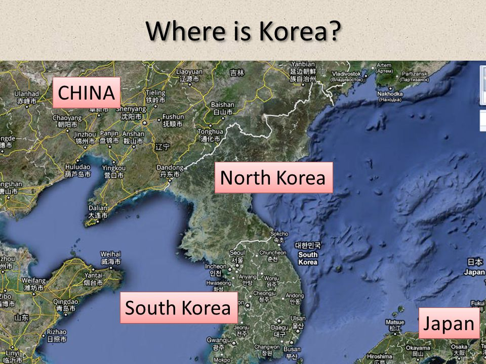 Where is Korea CHINA North Korea South Korea Japan