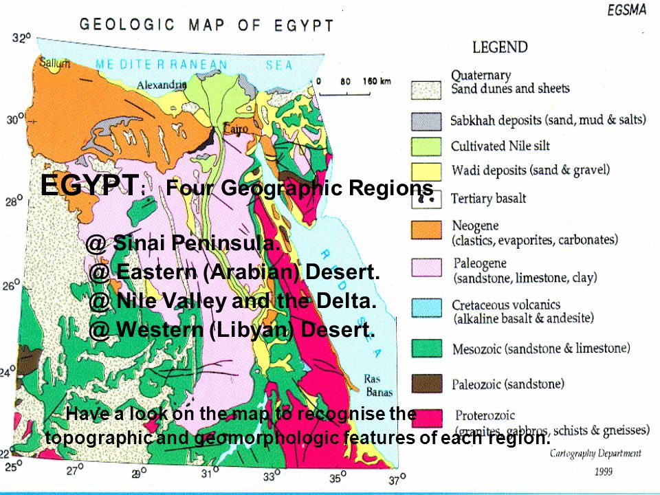 EGYPT: Four Geographic Regions