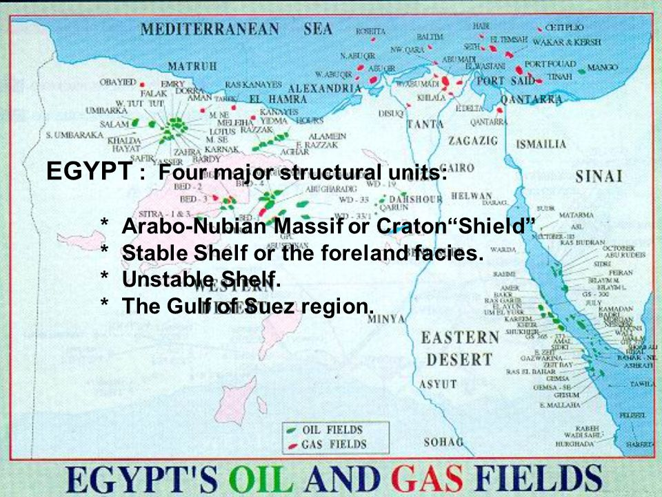 EGYPT : Four major structural units: