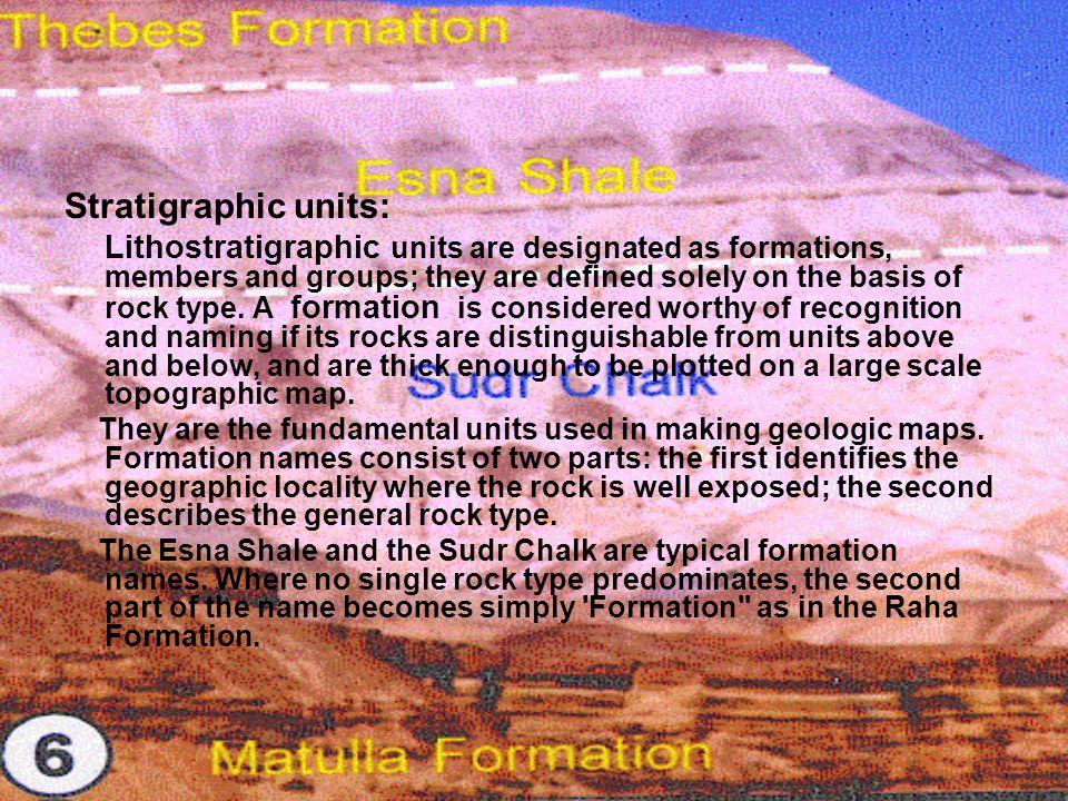 Stratigraphic units: