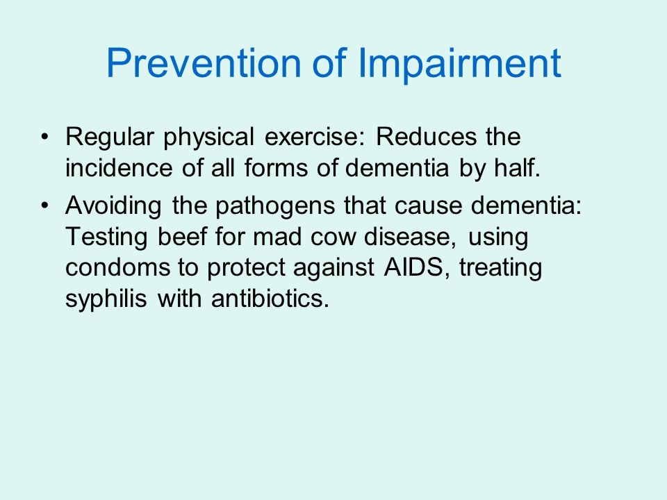 Prevention of Impairment