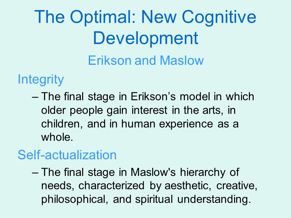 The Optimal: New Cognitive Development