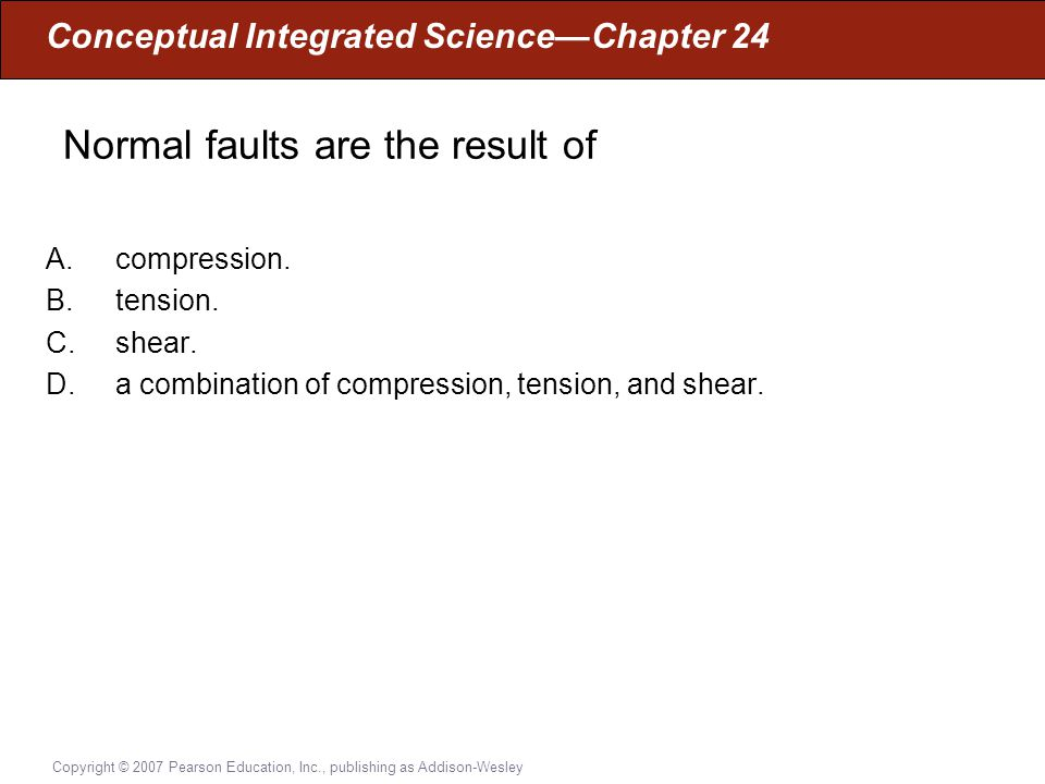 Normal faults are the result of