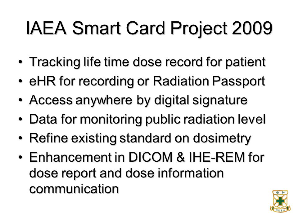IAEA Smart Card Project 2009