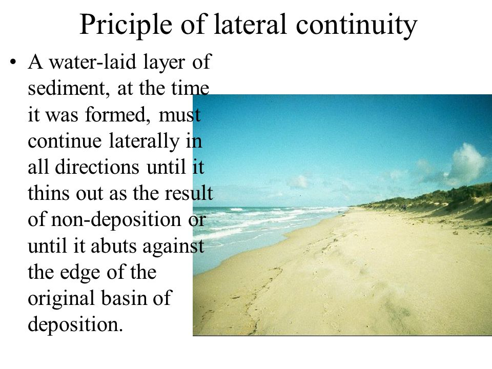 Priciple of lateral continuity