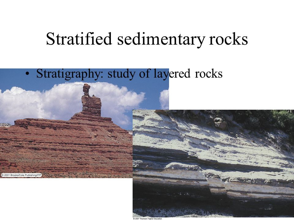Stratified sedimentary rocks