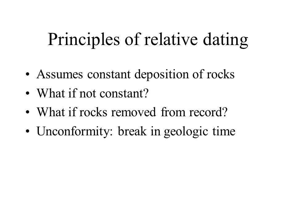 Principles of relative dating