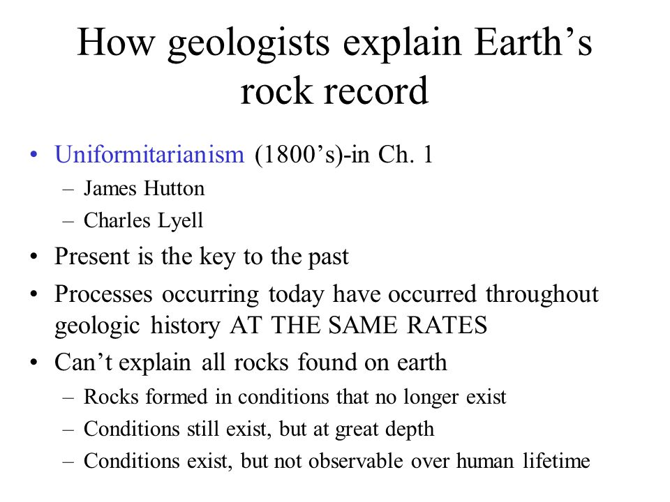 How geologists explain Earth's rock record