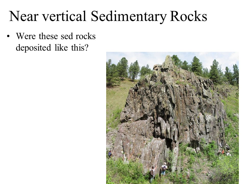 Near vertical Sedimentary Rocks