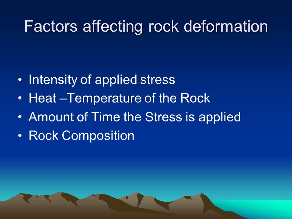 Factors affecting rock deformation