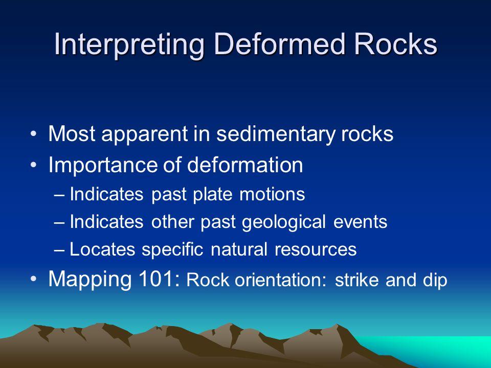 Interpreting Deformed Rocks