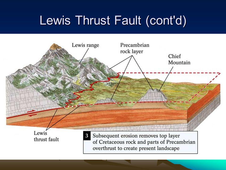 Lewis Thrust Fault (cont d)