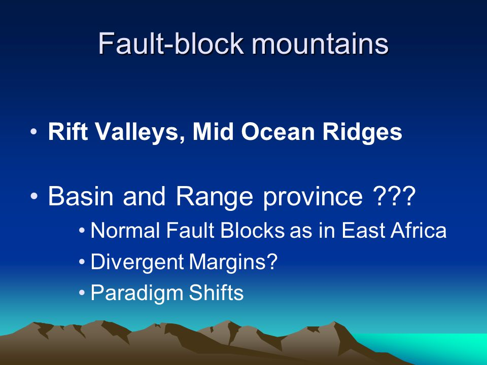 Fault-block mountains