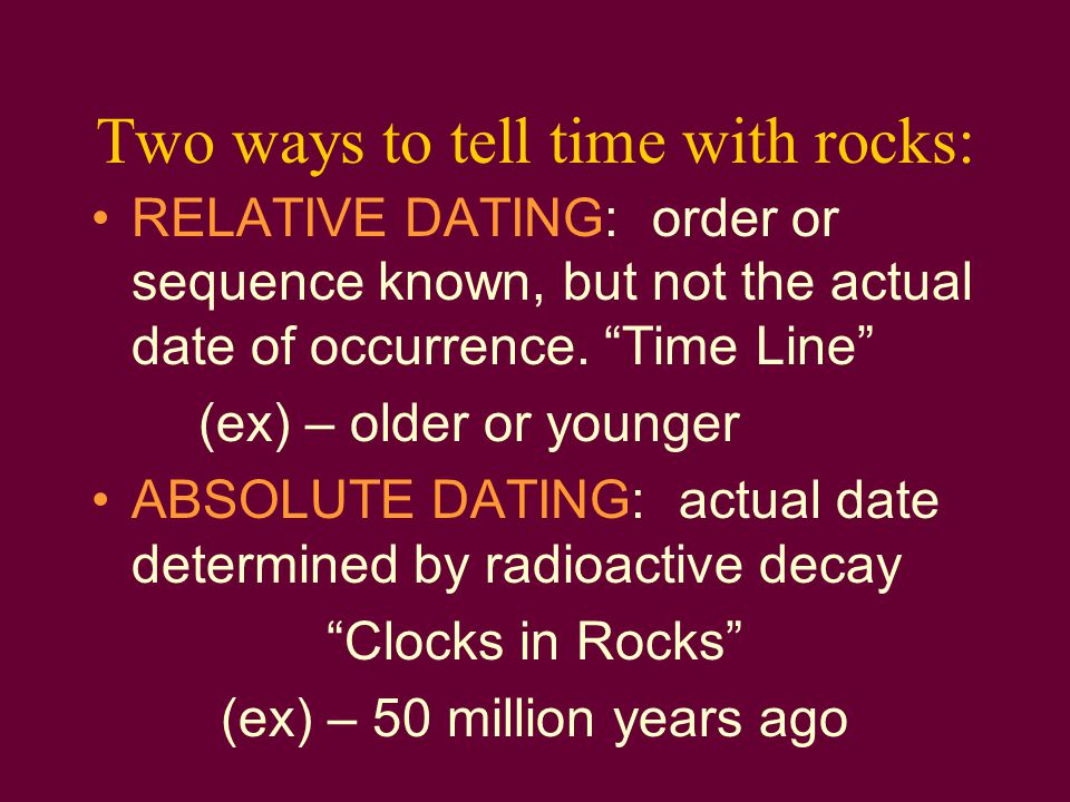 Two ways to tell time with rocks: