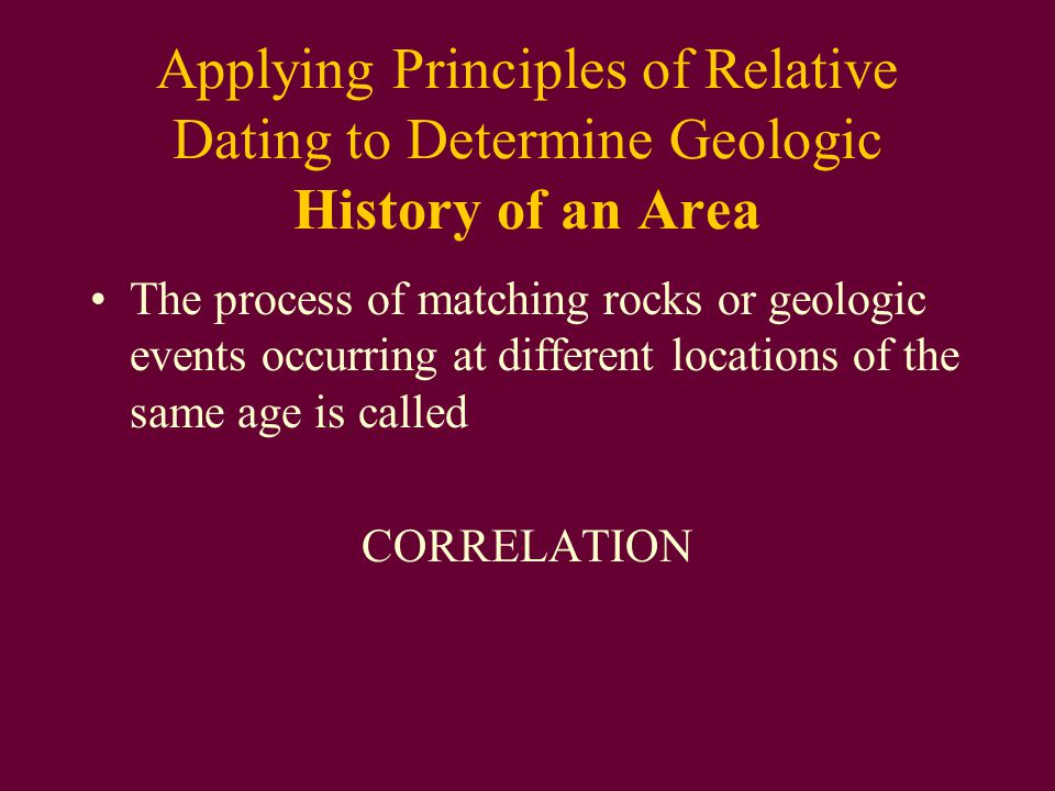 what geologic principles are used in relative age dating The principle states that in a sequence of undeformed sedimentary rocks the  oldest  be used to dermine whether a sedimentary succession is overturned or  not)  in sedimentary rocks change noticeably as geologic time passes ( evolution.