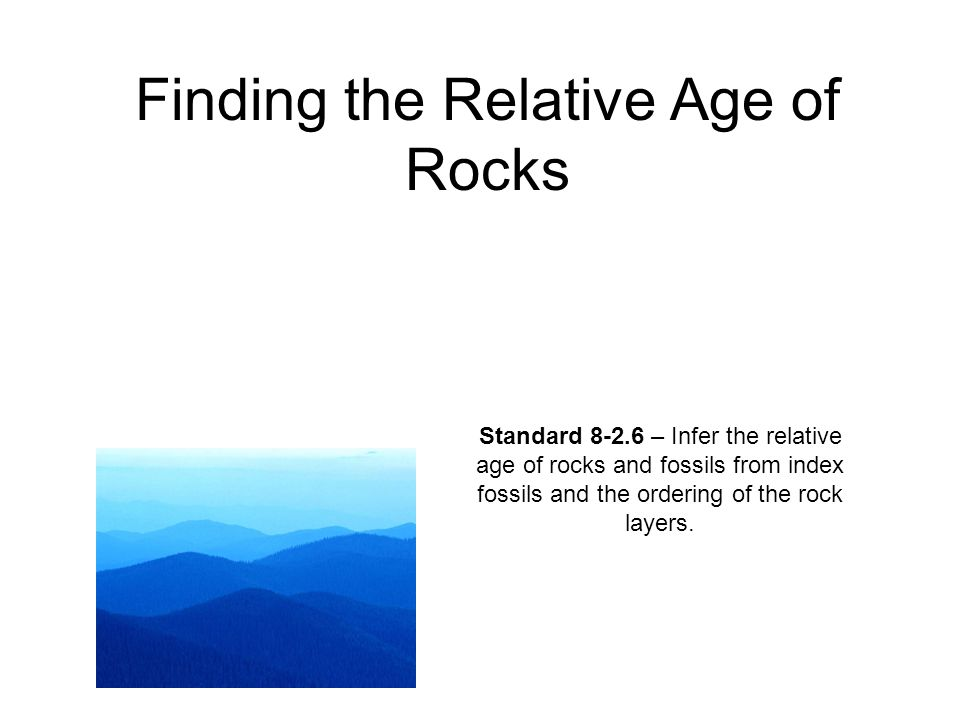 Finding the Relative Age of Rocks