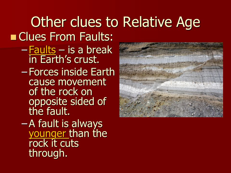 Other clues to Relative Age