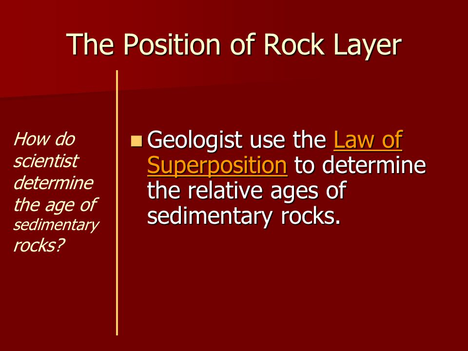 The Position of Rock Layer