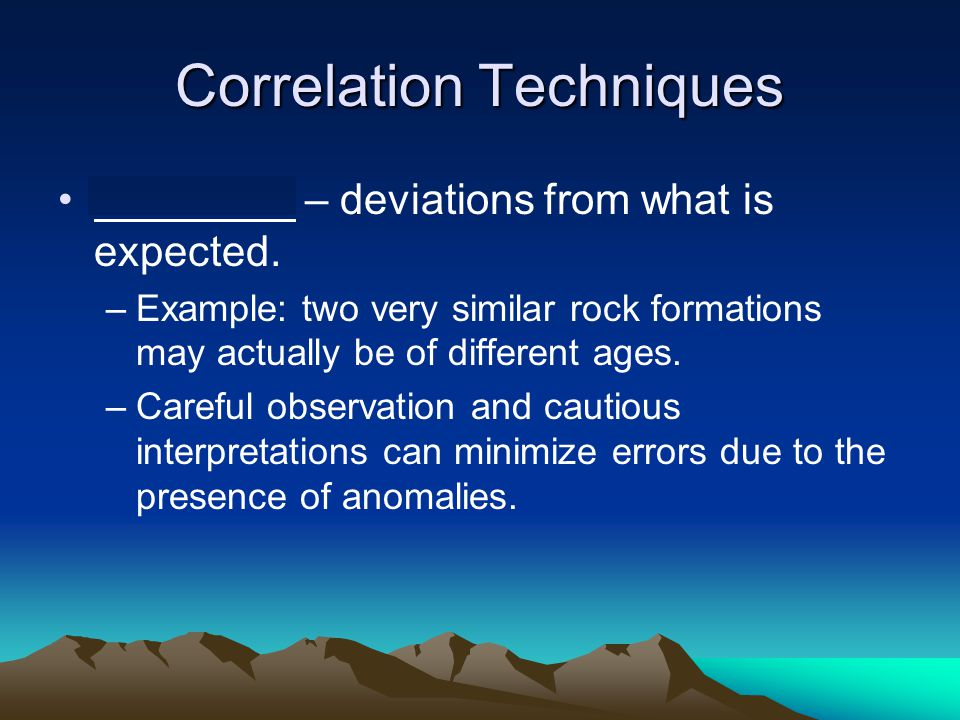Correlation Techniques