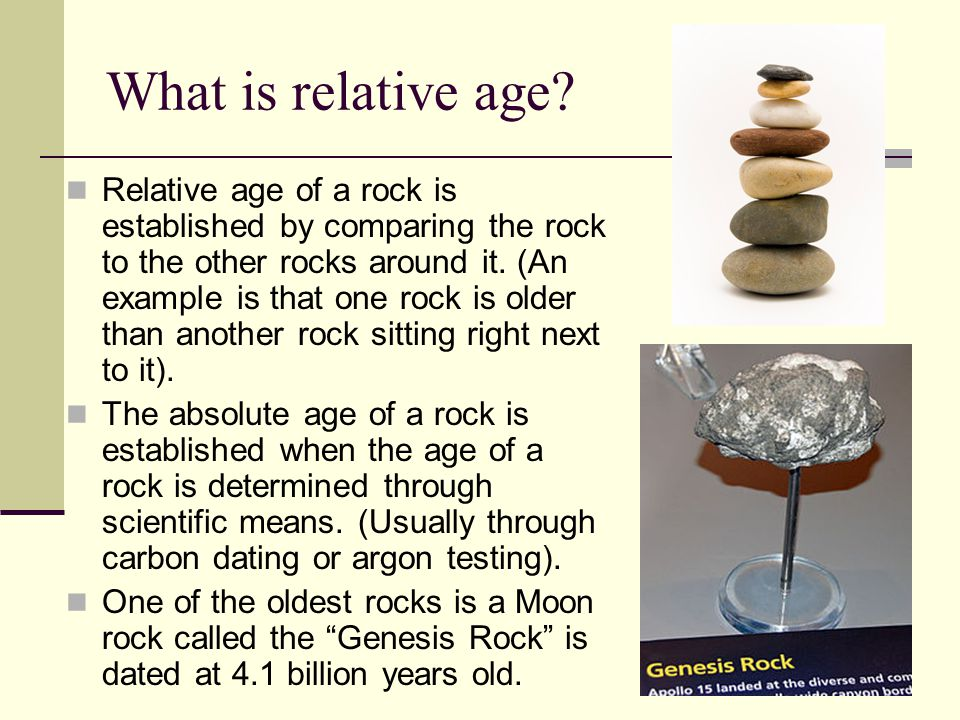 What is relative age