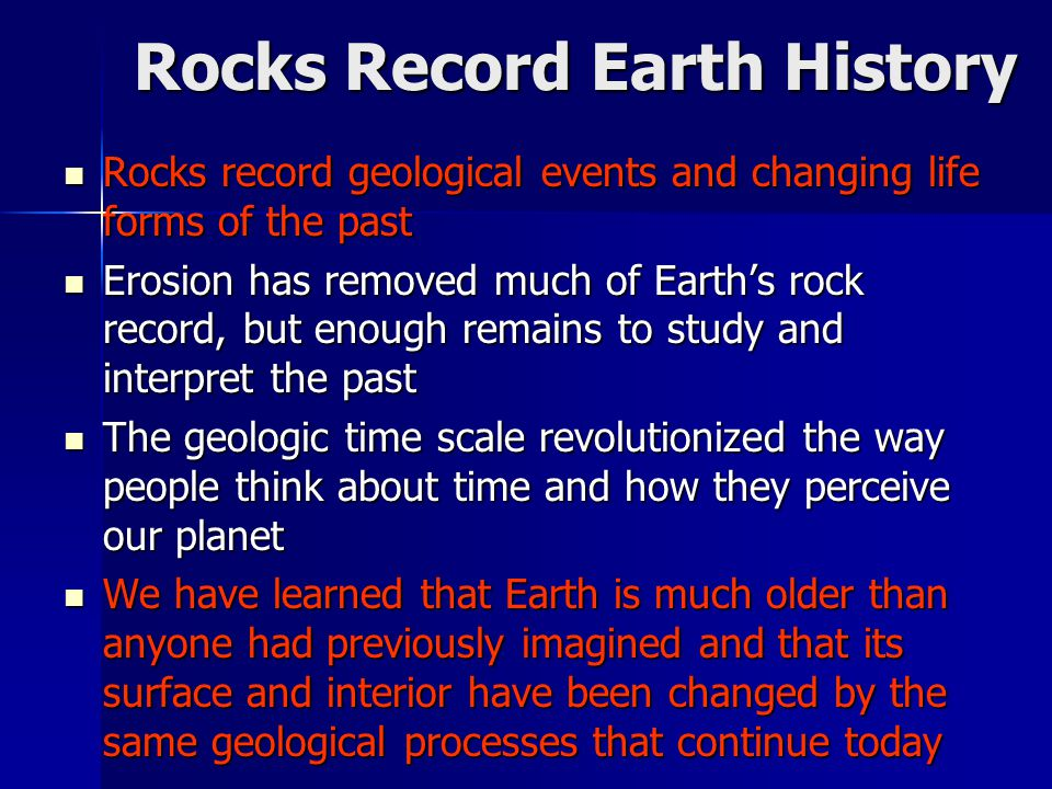 Rocks Record Earth History