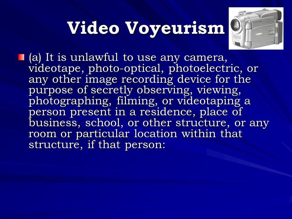 Video Voyeurism