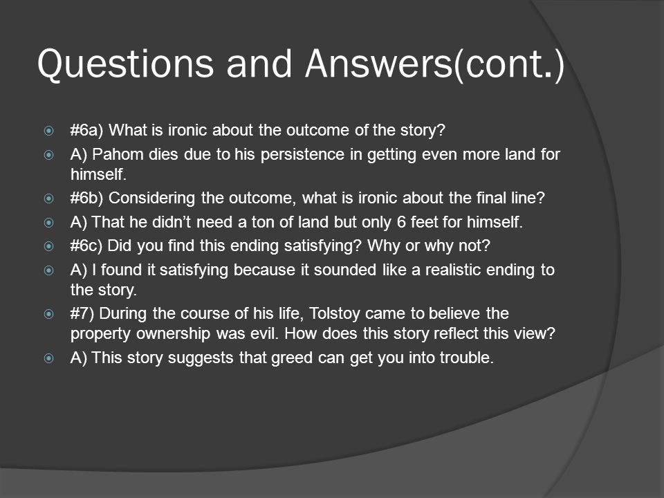 Questions and Answers(cont.)