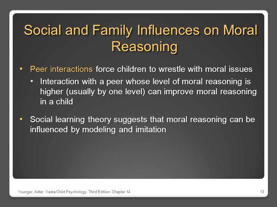 Social and Family Influences on Moral Reasoning