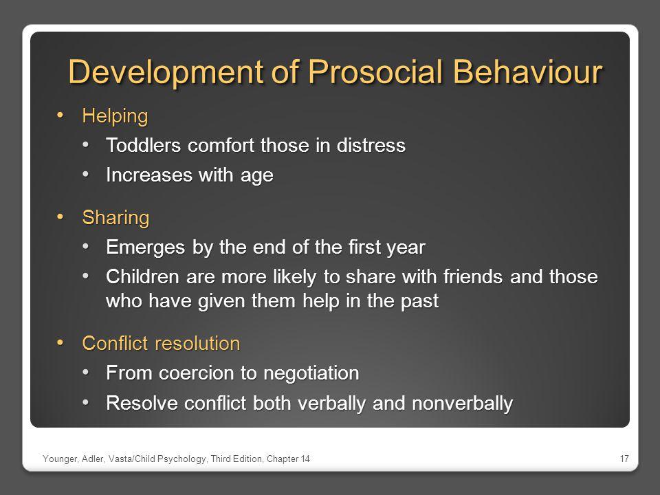 Development of Prosocial Behaviour