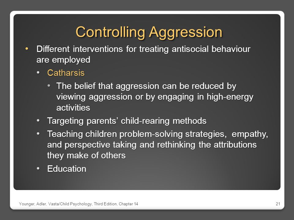 Controlling Aggression