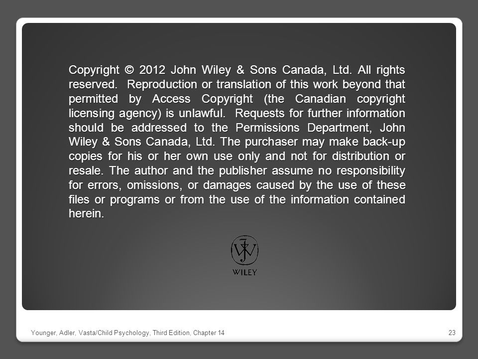 Copyright © 2012 John Wiley & Sons Canada, Ltd. All rights reserved