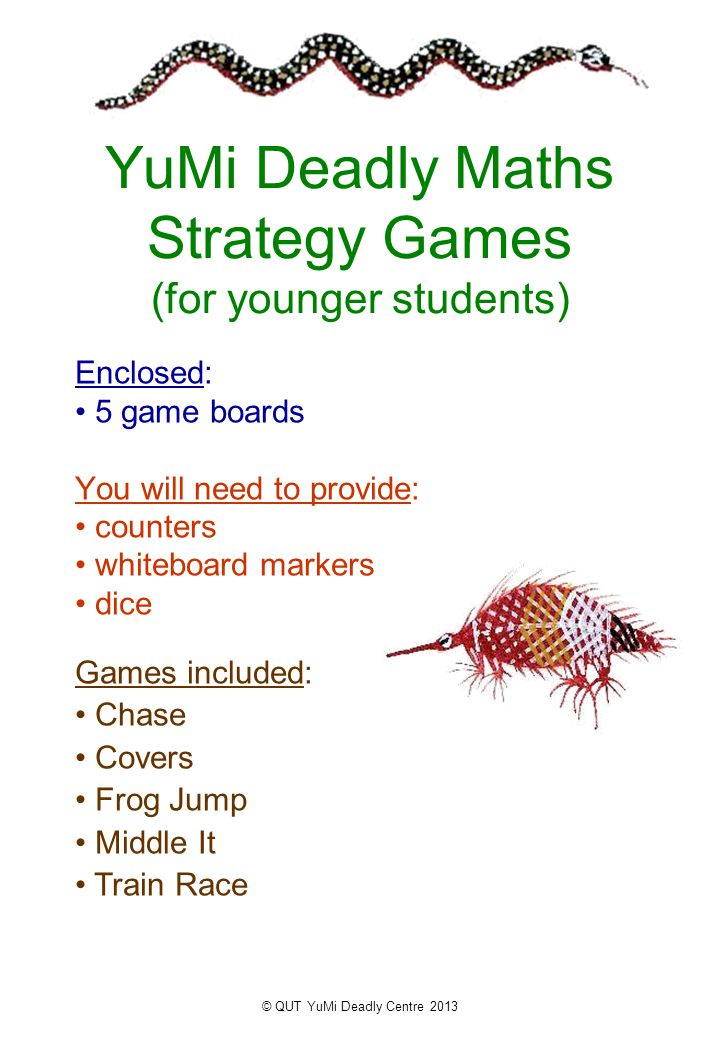 YuMi Deadly Maths Strategy Games (for younger students)