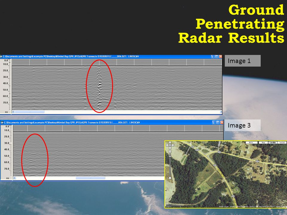 Ground Penetrating Radar Results