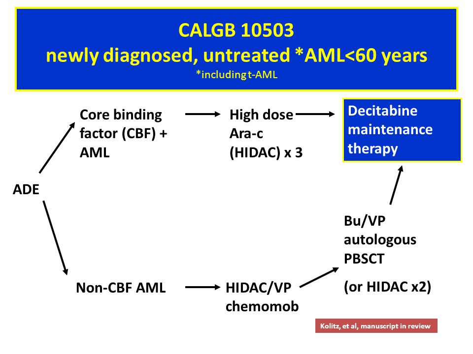 CALGB 19808 newly diagnosed, untreated AML<60 years