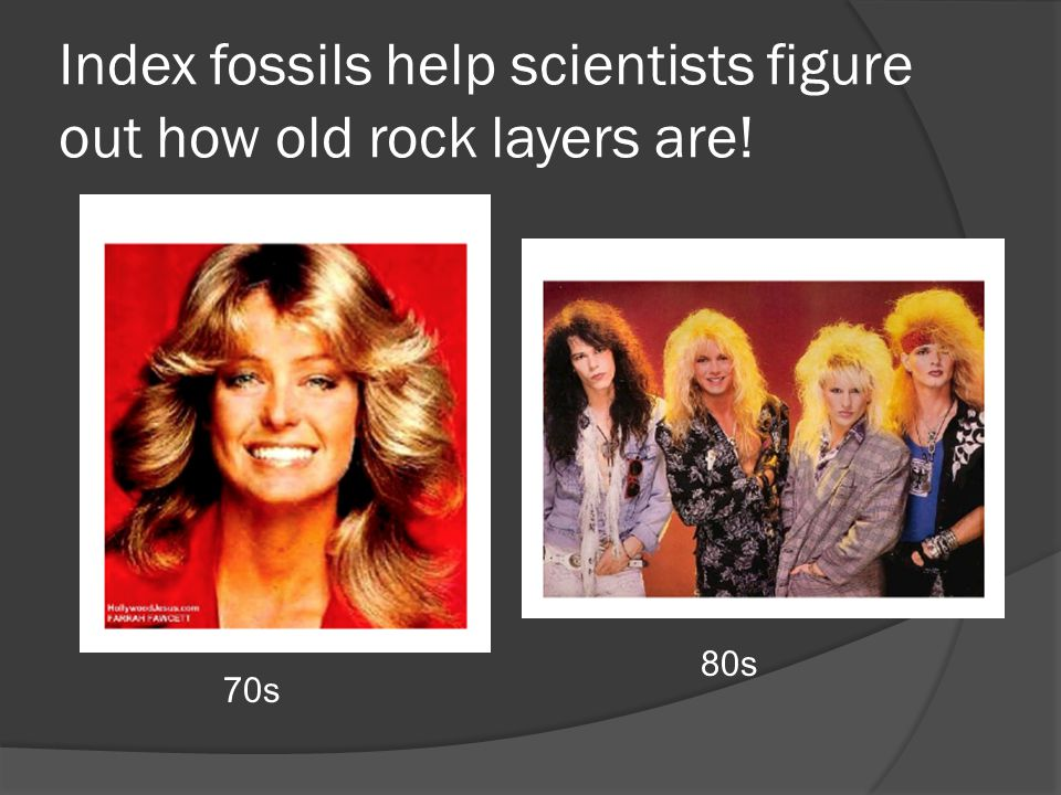 Index fossils help scientists figure out how old rock layers are!