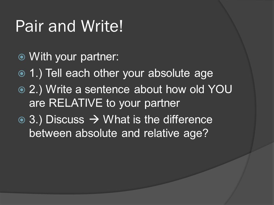 Pair and Write! With your partner: