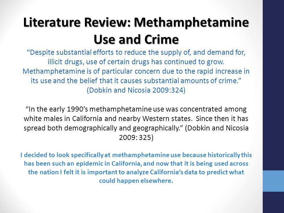 Literature Review: Methamphetamine Use and Crime