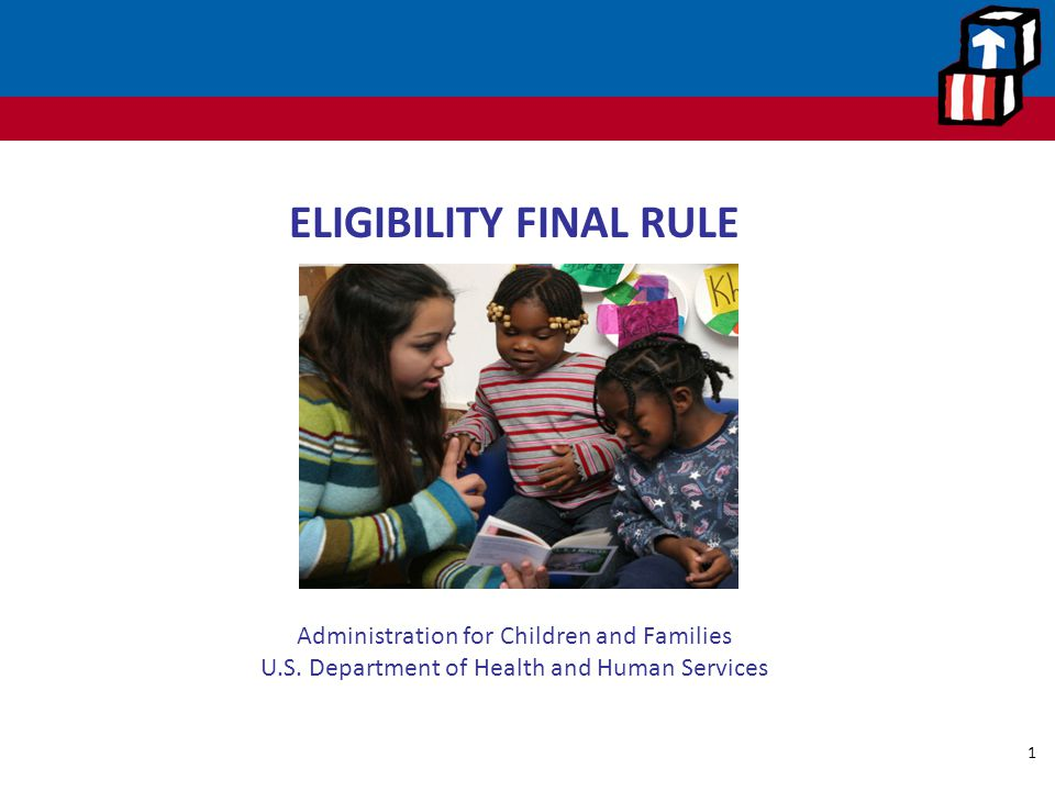 ELIGIBILITY FINAL RULE Office of Head Start Administration for Children and Families U.S.