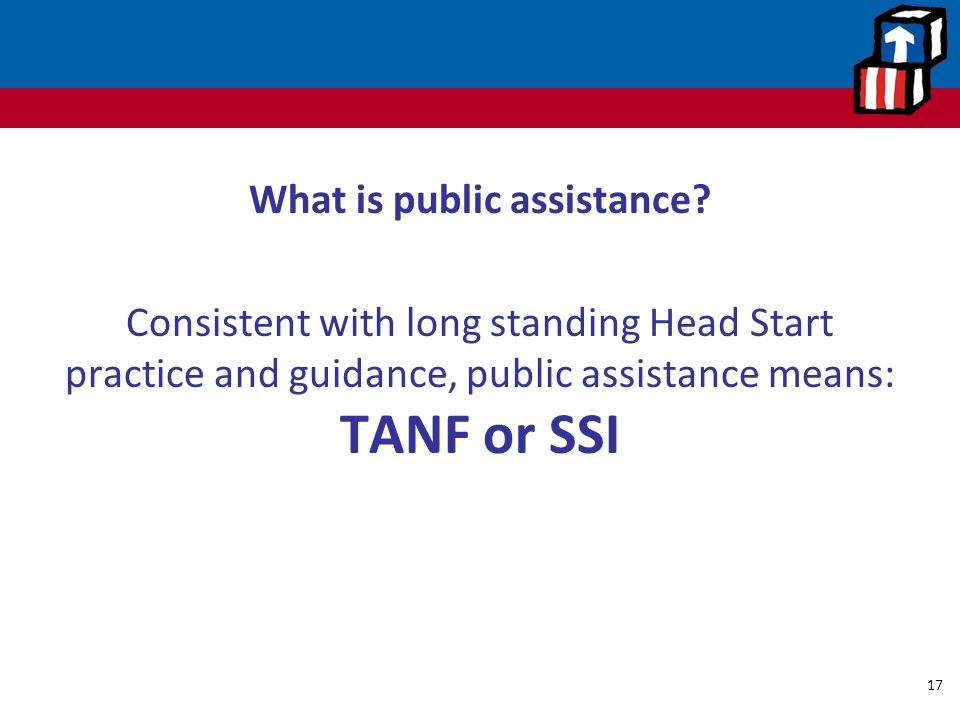What is public assistance