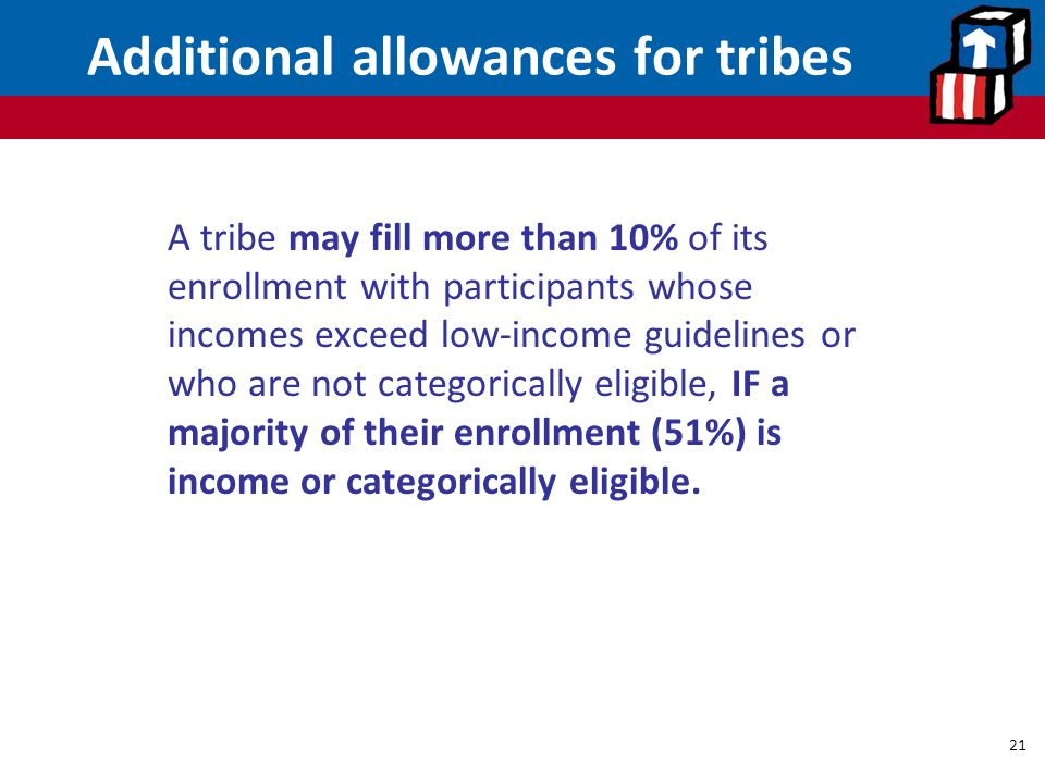 Additional allowances for tribes