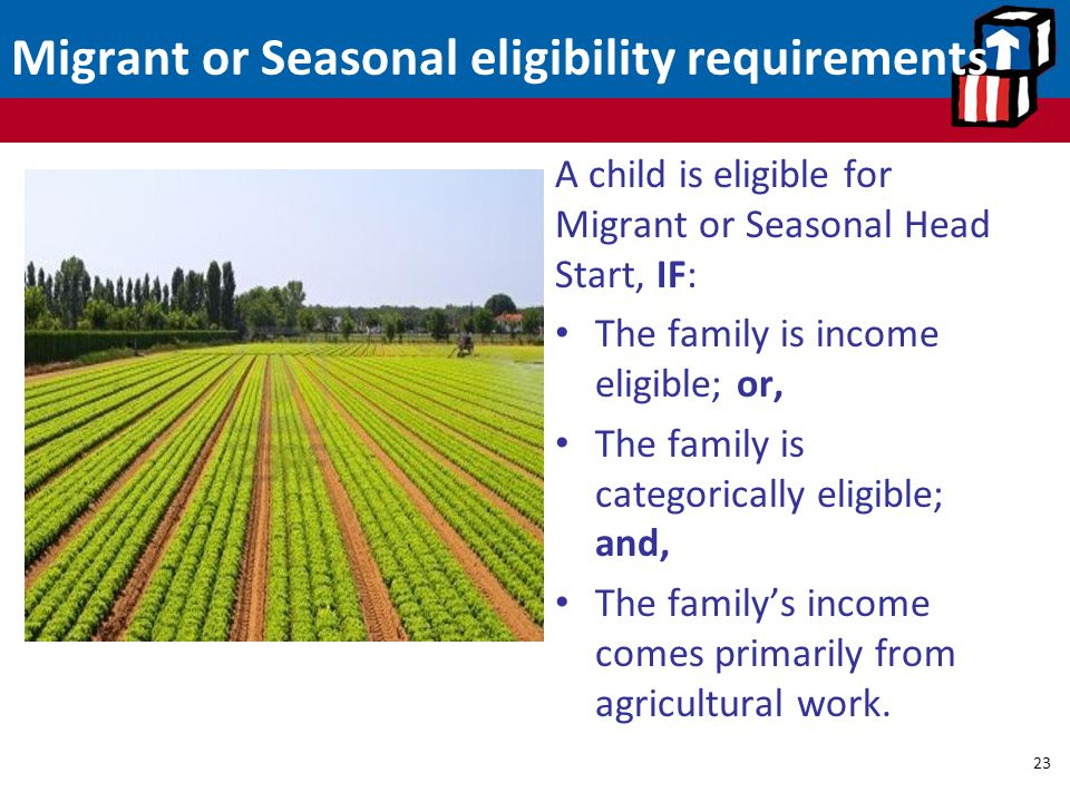 Migrant or Seasonal eligibility requirements
