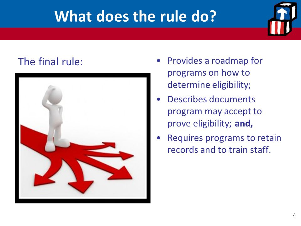 What does the rule do The final rule: