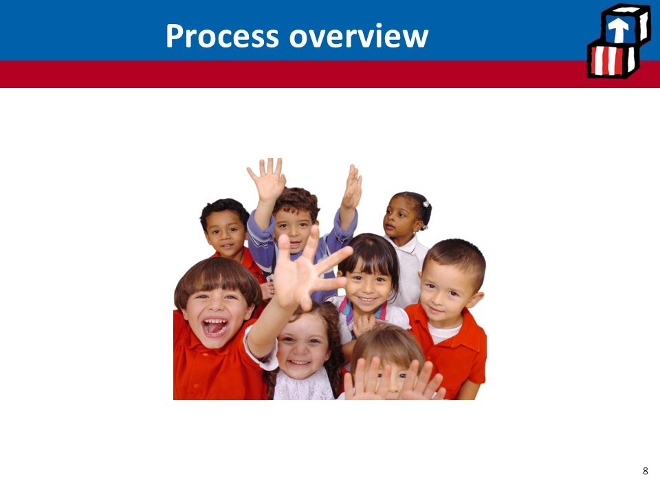 Process overview The process overview section generally outlines steps staff must take to determine whether a family is eligible for services.