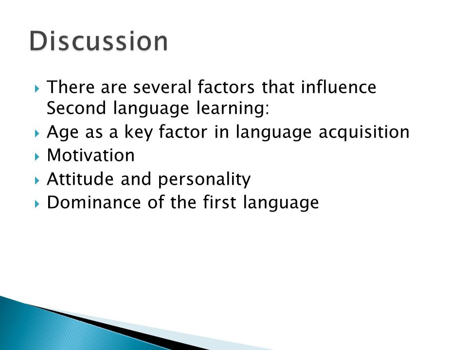 an analysis of the factors that influence language learning Cultural factors that influence learning for through language then that educators have a clear understanding of the role cultural factors play in the learning.