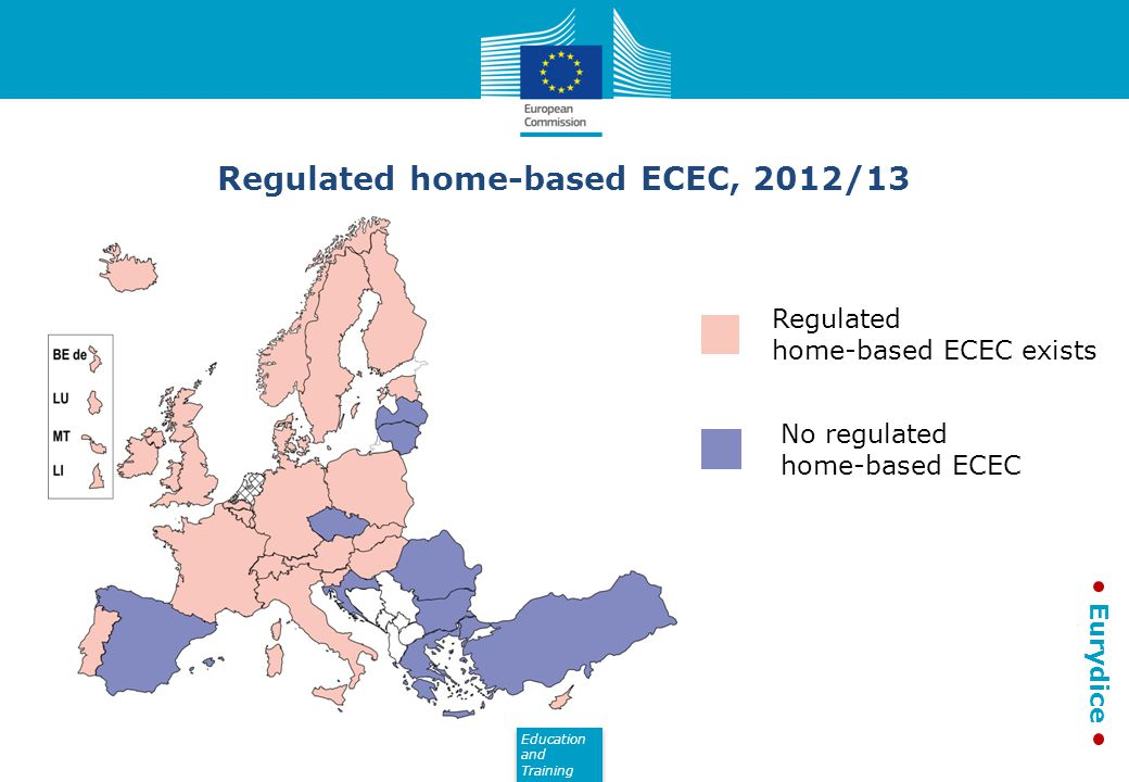 Regulated home-based ECEC, 2012/13