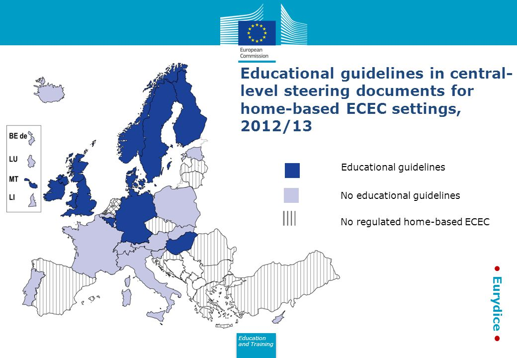 Educational guidelines in central-level steering documents for home-based ECEC settings, 2012/13