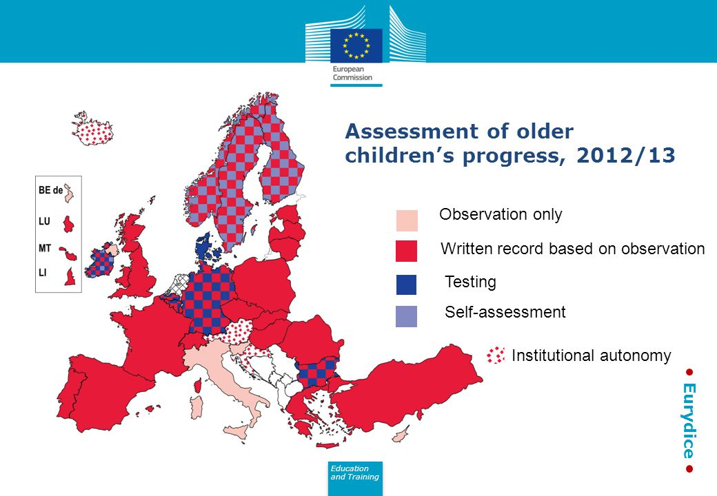 Assessment of older children's progress, 2012/13
