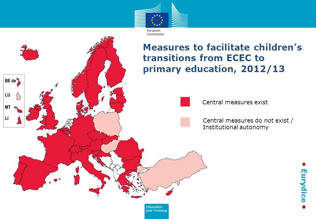 Measures to facilitate children's transitions from ECEC to primary education, 2012/13